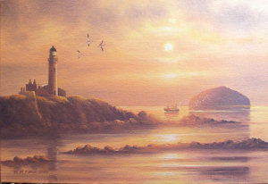 Painting of Turnberry Lighthouse