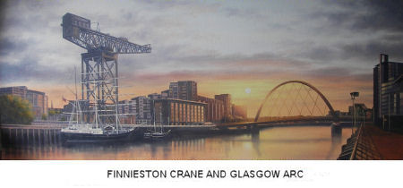 Commissioned Painting of Finnieston Crane and Glasgow Arc