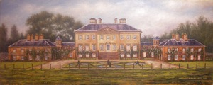 Commissioned Oil Painting of Dumfries House 10 x 25 ins. Oil