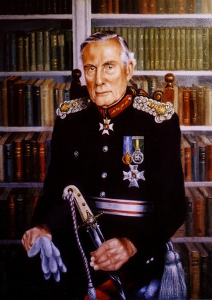 Commissioned oil painting of Major Sir Richard Henderson