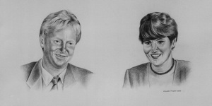 Commissioned drawing of Paul and Jean on Graphite