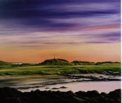 Oil painting of Turnberry Golf Course