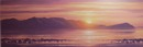 Original Oil Painting - Summer Sunset, Arran 10 x 30 ins. Oil