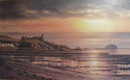 Original Oil Painting - Sunset over Dunure 20 x 32.5 ins. Oil